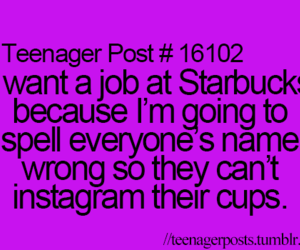 starbucks, instagram, and teenager post image