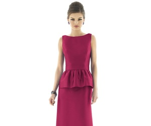 long, boat neckline, and sleevless image