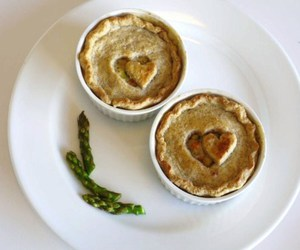 food, pie, and heart image