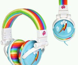 headphones and rainbow dash image