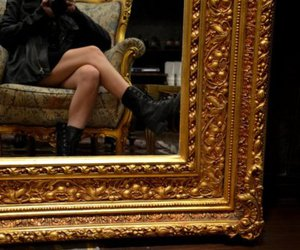 boots, mirror, and shoes image