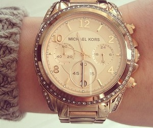 watch, Michael Kors, and gold image