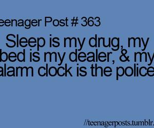 teenager post and sleep image