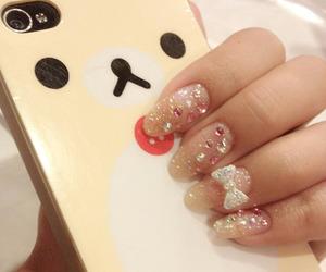 kawaii, nails, and rilakkuma image