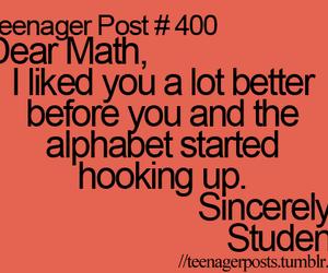 math, teenager post, and student image