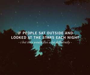 stars, quote, and night image