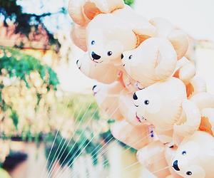 ballon, kawaii, and bear image