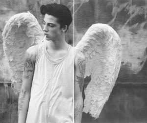 angel, boy, and tattoo image
