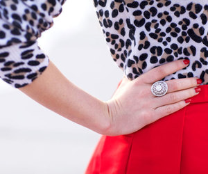 chic, leopard, and style image