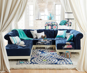 blue, design, and living room image
