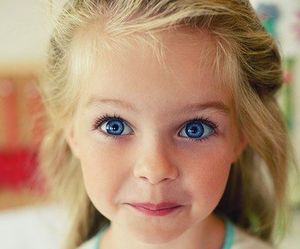 adorable, beauty, and blue eyes image
