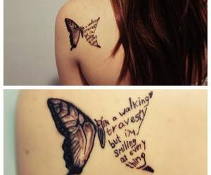 tattoo, butterfly, and all time low image