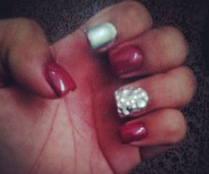 bling, nails, and sparkle image