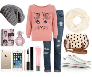 beanie, polkadot, and one direction image
