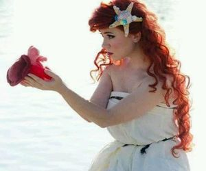 ariel, cosplay, and the little mermaid image
