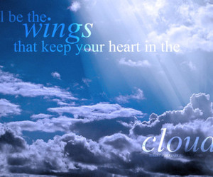 clouds and wings image