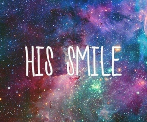 smile, love, and galaxy image