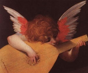 art, angel, and music image