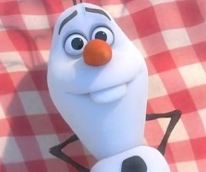 olaf, chilling, and frozen image