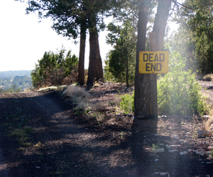 dead end, road, and sign image