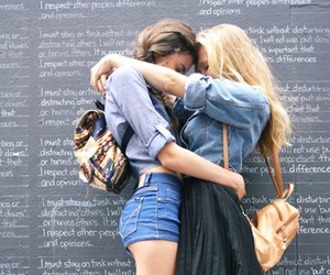girl, lesbian, and friends image