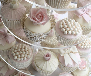 cupcake, wedding, and white image