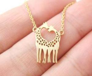necklace, giraffe, and gold image