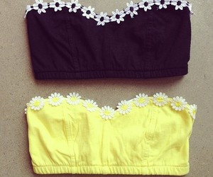 flowers, yellow, and black image