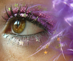 eye, glitter, and cute image