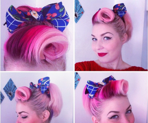 bows, hairstyles, and Pin Up image