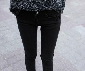 black, skinny, and legs image