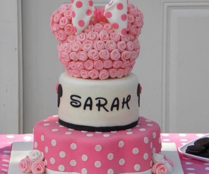 cake, pink, and disney image