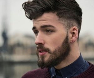 beard, boy, and sexy image
