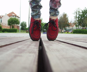 boots, creepers, and red image