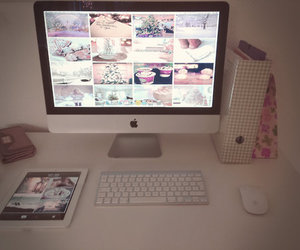 bedroom, imac, and pink image