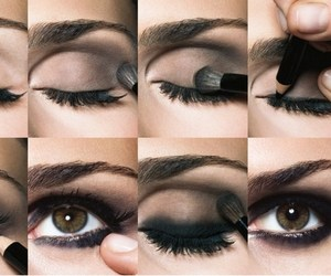 eyes, black, and make up image