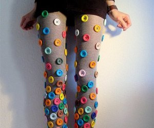 buttons, girl, and pretty image