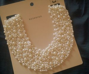 fashion, necklace, and pearl image