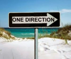 plage and one directiln image