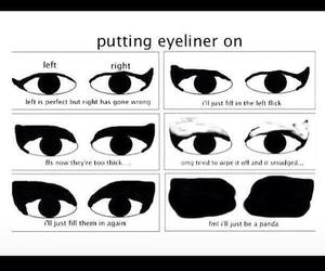 awesome, eyeliner, and funny image
