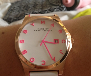 watch, marc jacobs, and pink image