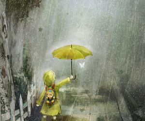rain, art, and umbrella image