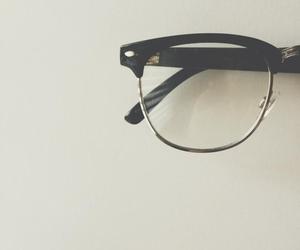 glasses, vintage, and black image
