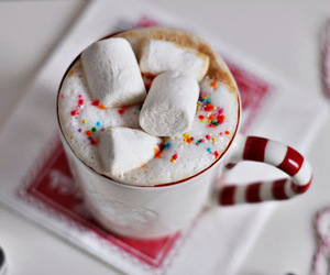 marshmallow and drink image