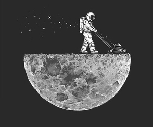 moon, space, and astronaut image
