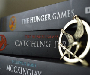 book, the hunger games, and catching fire image