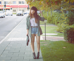 asian, girl, and heels image