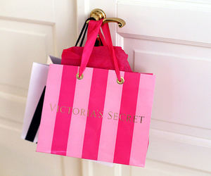Victoria's Secret, pink, and shopping image