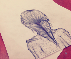 beautiful, braid, and draw image