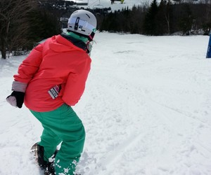 happy, snowboarder, and winter image